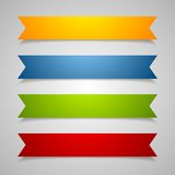 Set of label ribbons Stock Image