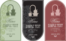 Set label for wine Royalty Free Stock Images