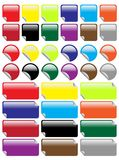 Set of Labels. Circles and Rectangles in Different Colors / Vector stock illustration