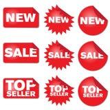 Set of Labels stock illustration