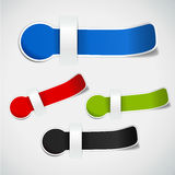 Set of labels. In different colors, perfect elemet for your website templates Stock Photography