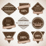 Set of labels Stock Images