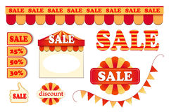 Set of labels Royalty Free Stock Photo