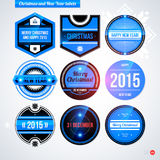Set of labels and badges for Christmas and New Year Stock Image