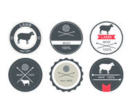 Set of labels, badges and design elements. Vector illustration Set of labels, badges and design elements Royalty Free Stock Images