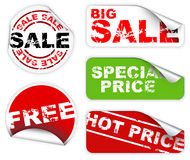 Set of labels badges and stickers for sale Royalty Free Stock Image