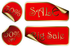 Set of labels badges and stickers for sale Stock Photography