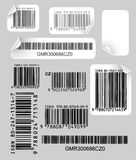 Set of  labels with bar codes Stock Photo
