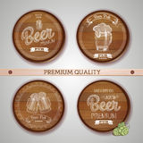 Set of labels with beer Stock Photo