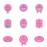 Set of labels for bio cosmetics Royalty Free Stock Photo