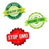 Set of labels - bio organic food theme Royalty Free Stock Photo