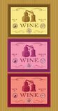Set of labels for bottles of wine or menu Stock Photos