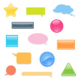 Set of labels, bubbles for you text. Royalty Free Stock Photography