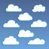 A Set Of Labels. Clouds Royalty Free Stock Photos