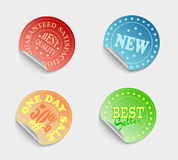 Set of labels08color01 Royalty Free Stock Photos