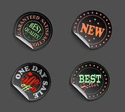 Set of labels08color Royalty Free Stock Photos