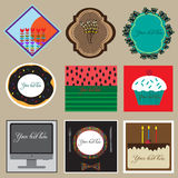 Set of labels design Royalty Free Stock Photos