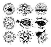 Set of labels design template to Thanksgiving Day. Royalty Free Stock Photography