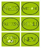 Set of labels with different messagges isolated Stock Photography