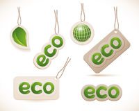 Set of labels eco sign Stock Images