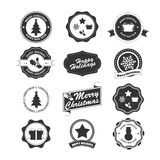 Set of labels and elements for Christmas and New Year and Holida Royalty Free Stock Photo