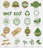 Set  labels and emblems of ecology and environment Stock Photography