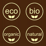 Set  labels and emblems of ecology. And environment Royalty Free Stock Images
