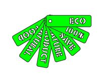 Set of labels on environmental themes, eco. Natural stock illustration