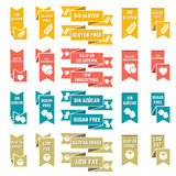 Set of labels for food Royalty Free Stock Photos