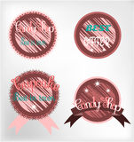 Set of labels Royalty Free Stock Photos