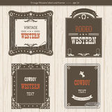 Set of labels and frames in Western style  for design Royalty Free Stock Photography