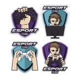 Set of labels,gamer logo royalty free illustration