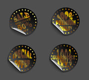 Set of labels gold Stock Image