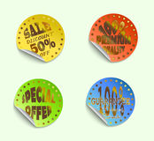 Set of labels05gold. Set of  stickers, vector illustration Stock Photography