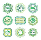 Set of labels for green technology and production Royalty Free Stock Images