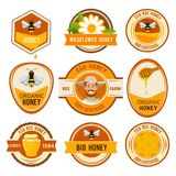 Set labels for honey. Vector template with place for your text vector illustration
