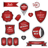 Set of  labels and icons. For business discount Royalty Free Stock Photography