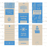Set of labels for knitwear and wool Stock Images
