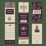 Set of labels for knitwear and wool Royalty Free Stock Photo