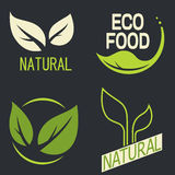 Set of labels, logos with text. Natural, eco food. Organic food Royalty Free Stock Photo