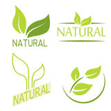 Set of labels, logos with text. Natural, eco food. Organic food Royalty Free Stock Image