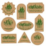 Set labels natural product Stock Image