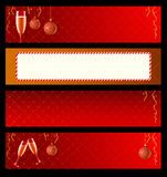 Set of  labels for New Year. Set of  labels with champagne and decorations for New Year Stock Photography