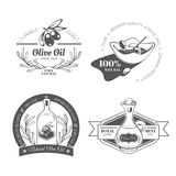 Set with labels. Olive oil. Vector illustration. EPS 10 Royalty Free Stock Photography