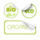 Set of labels for organic. Fresh, healthy, bio food Royalty Free Stock Image