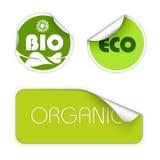 Set of labels for organic food Stock Illustration