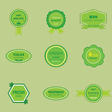 Set of labels for organic and natural food Royalty Free Stock Photography