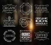 Set of labels for organic products Stock Image