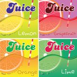 Set of labels for packaging juice Royalty Free Stock Photography