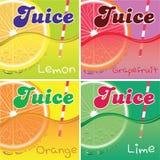 Set of labels for packaging juice. Set of vector labels for packaging juice Royalty Free Stock Photography